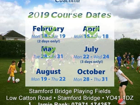 TOP RANK FOOTY SUMMER COURSE DATES