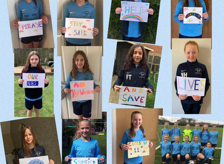 U11's GIRLS MESSAGE - NHS & KEY WORKERS, THANK YOU!