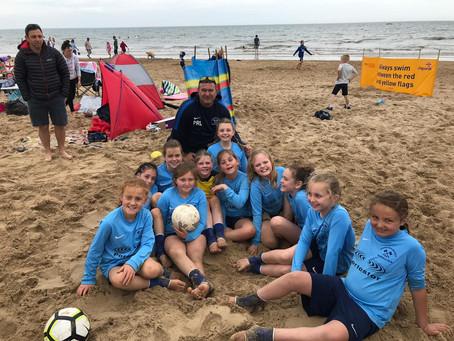 U10'S GIRLS PLAY AT BEACH SOCCER TOURNAMENT