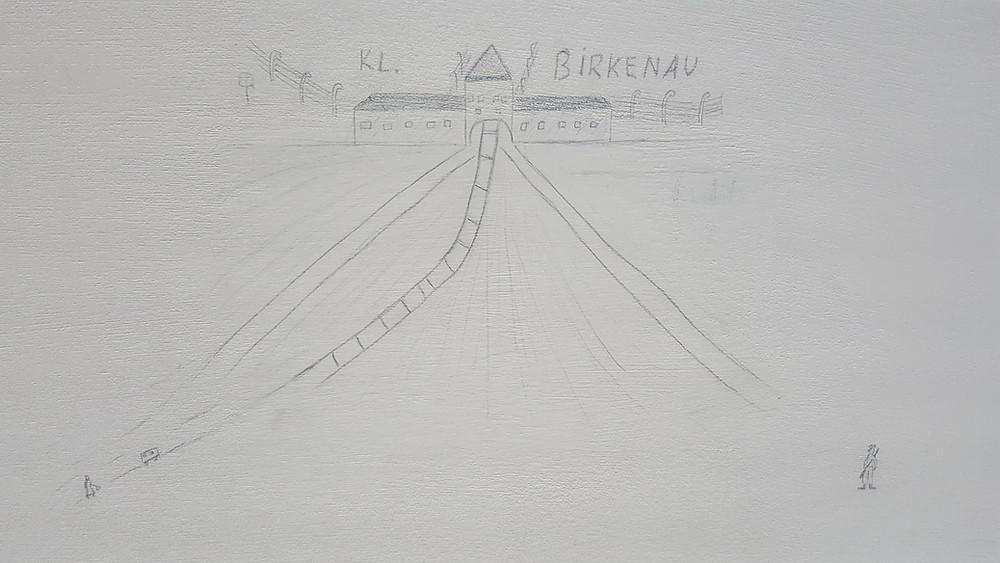 אחד מציורי הילדים שנספו במהלך השואה