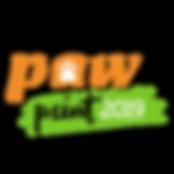 Logo paw ayuda dona perros y gatos