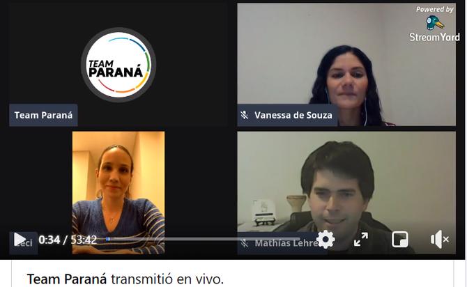 Conversatorio online Paraguay (Team Parana)