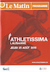 Programme Athletissima 2016