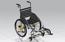 Wheelchair - chaise roulante qui fait tourner les jambes