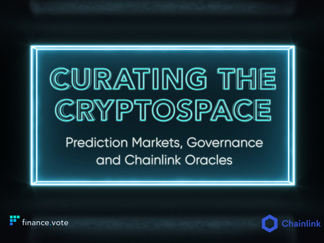 Curating the cryptospace with prediction markets, governance and Chainlink oracles
