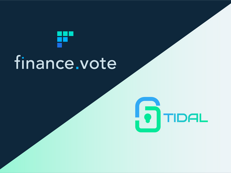 finance.vote partner with tidal.finance. Auditing, insurance and decentralised peer review