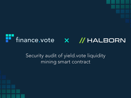 finance.vote x Halborn: Security audit for yield.vote completed.