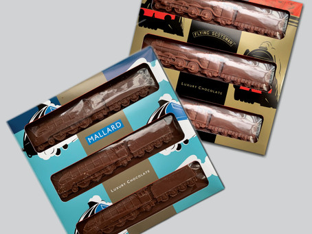 Full steam ahead for Flying Scotsman and Mallard Chocolate Train packaging design work!