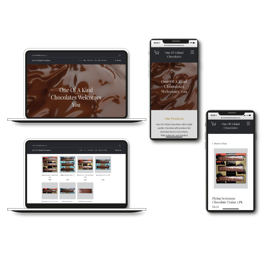 One Of A Kind Chocolate website