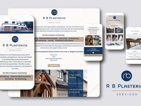 A smooth finish! Logo & website design for established plastering service business.