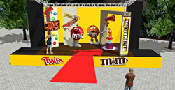 bozzetto m&m's activation