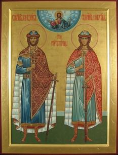 Die Heiligen Prinzen Boris und Gleb, die Passionsträger