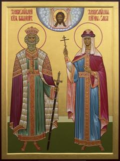 Die Heiligen Wladimir und Olga