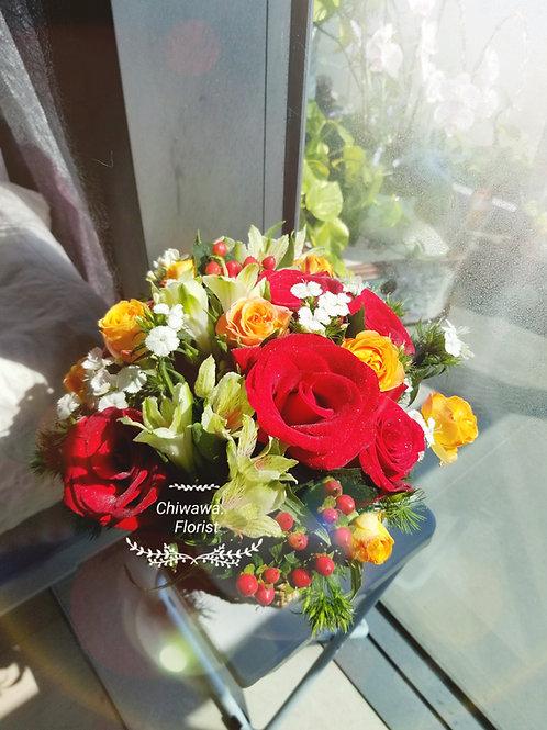 Fresh rose basket