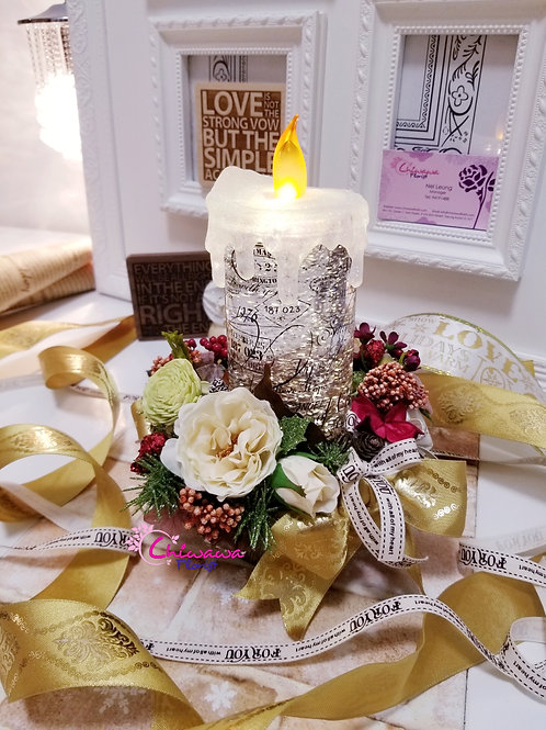 Traditional Christmas Candle with Sparkling light