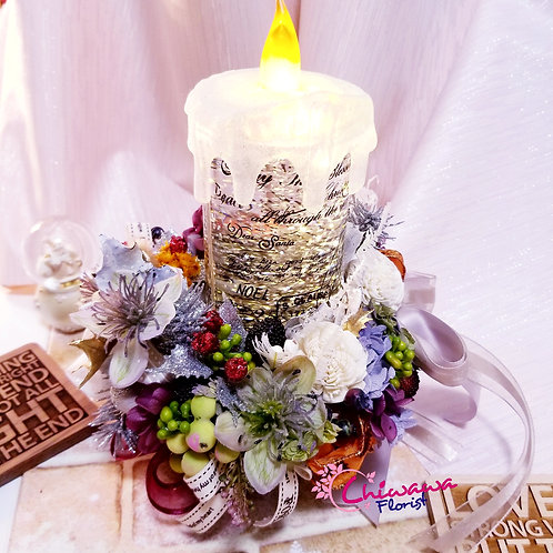 Christmas Rose Candle