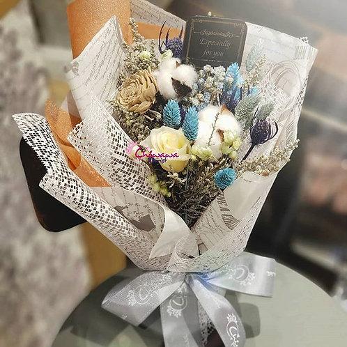 Preserved flower bouquet- cotton series 1