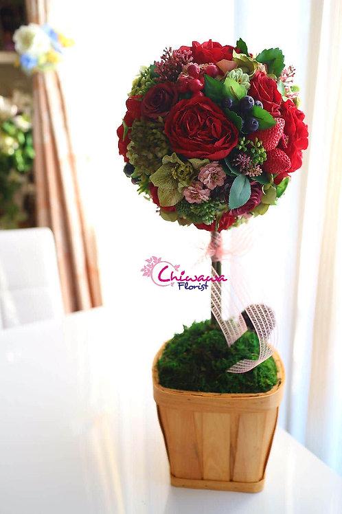 strawberry rose tree