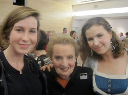 With Madeline Albright