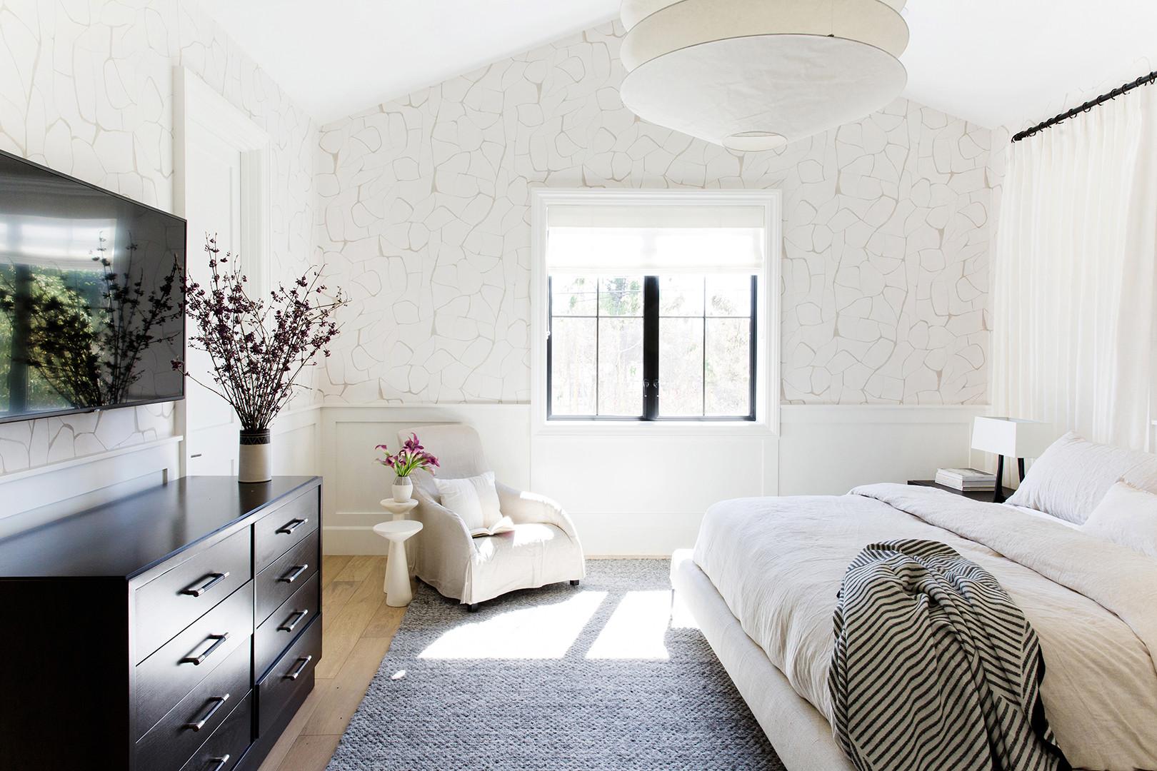 Santa Monica farm house master bedroom