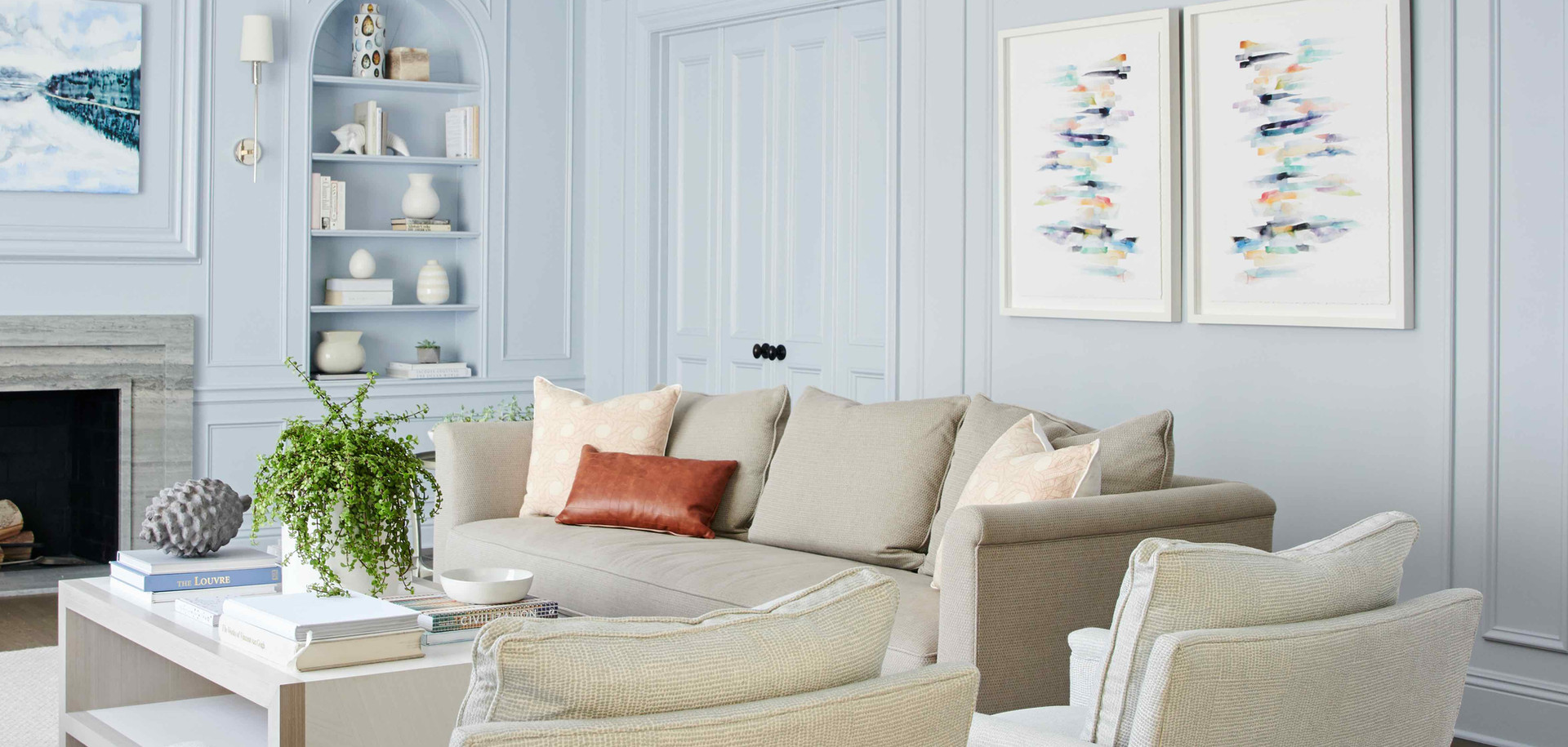 Hancock Park Paul Williams Formal Living Custom Furniture