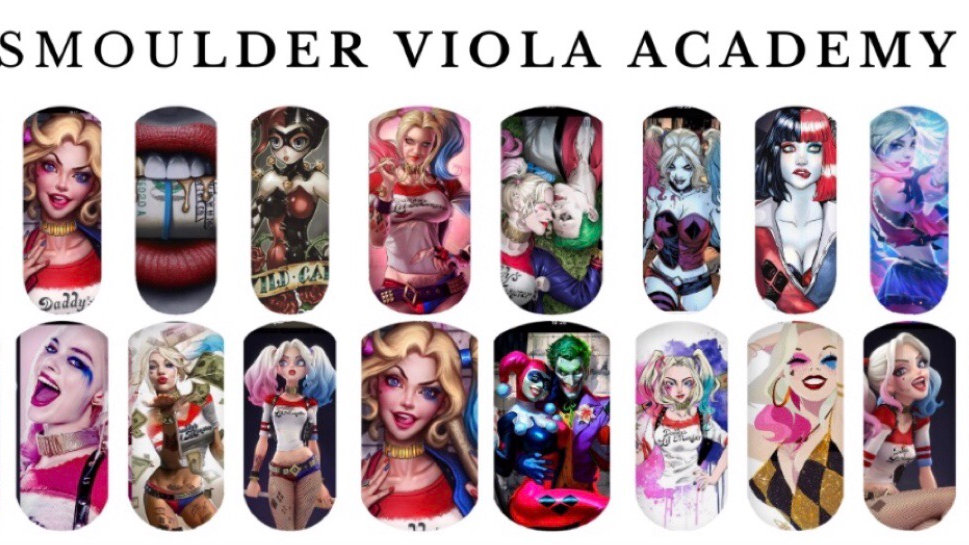 We Love Harley Quinn - Nail Water Decals