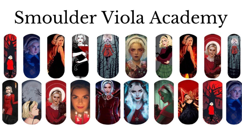 Sabrina - The Chilling Adventures. Nail Water Decals
