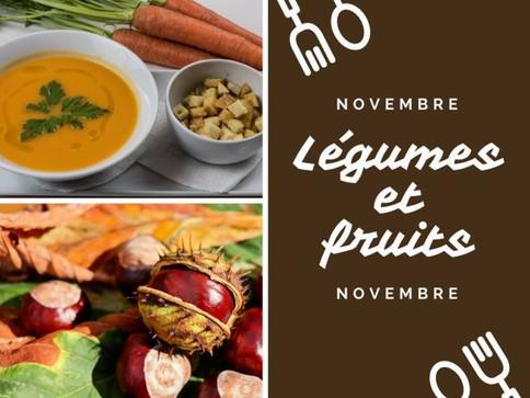 Hello novembre, voilà les légumes et fruits du mois