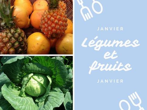 Légumes et fruits de saison pour janvier