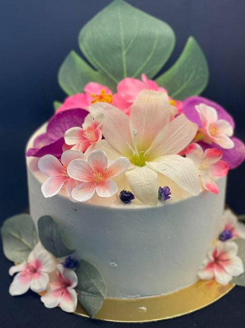 CAKE DESIGN FLEUR, TROPICALE, VACANCES