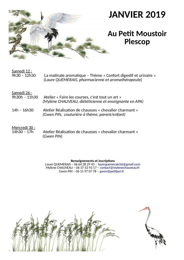 Les ateliers de janvier à Plescop
