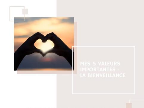 Mes 5 valeurs importantes : 2- La bienveillance