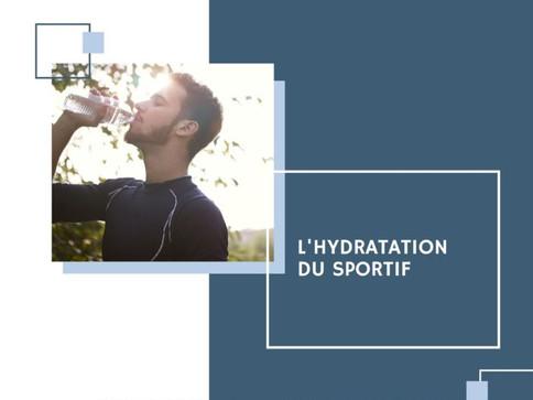 L'hydratation du sportif
