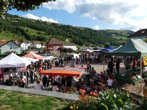 Le marché d'été à la Bresse