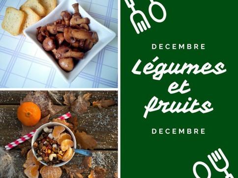 Les légumes et fruits de décembre