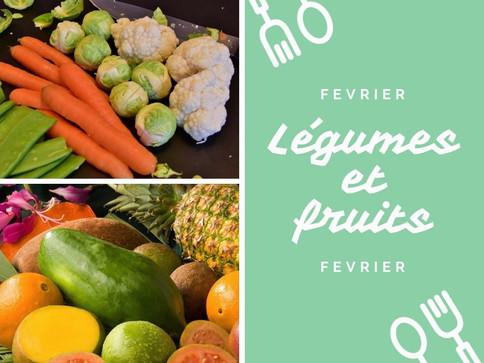 Les voici, les voilà, les légumes et fruits de février!