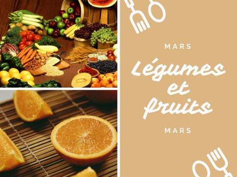 Voici les légumes et fruits de mars