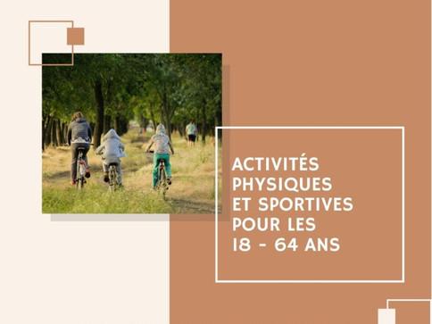 Activités physiques et sportives et recommandations de l'OMS pour les adultes
