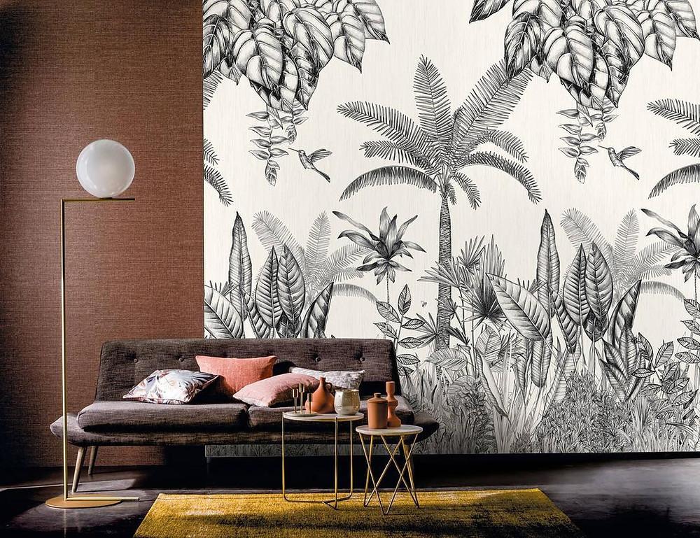 Papier peint jungle chez Corinne Montel Vannes