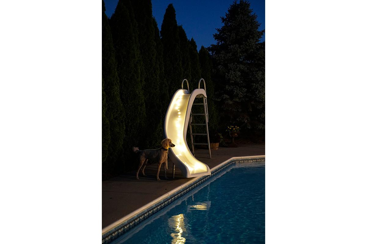 Slide, lit up
