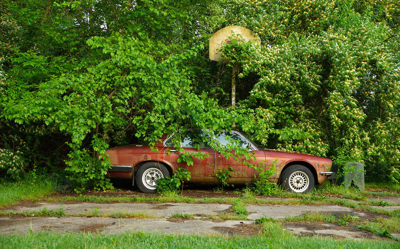 Abandoned Jaguar (color version)