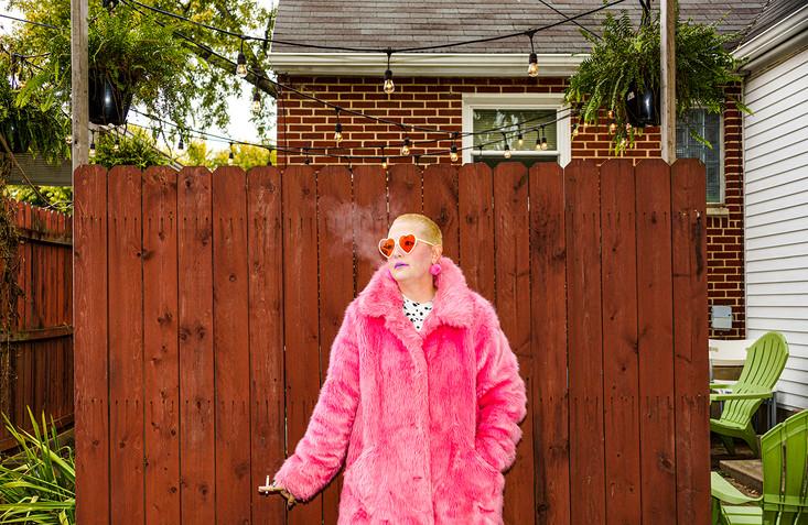 Emily smoking