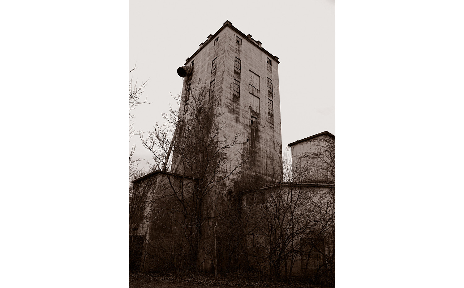Abandoned Grain Tower, Trotwood Ohio