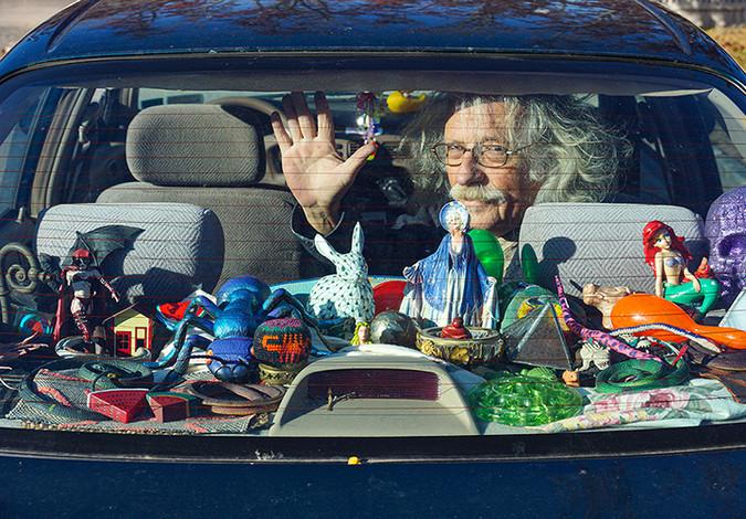 The artist's car