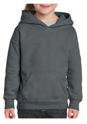 Gildan Youth Hoodie Pullover Charcoal.JP