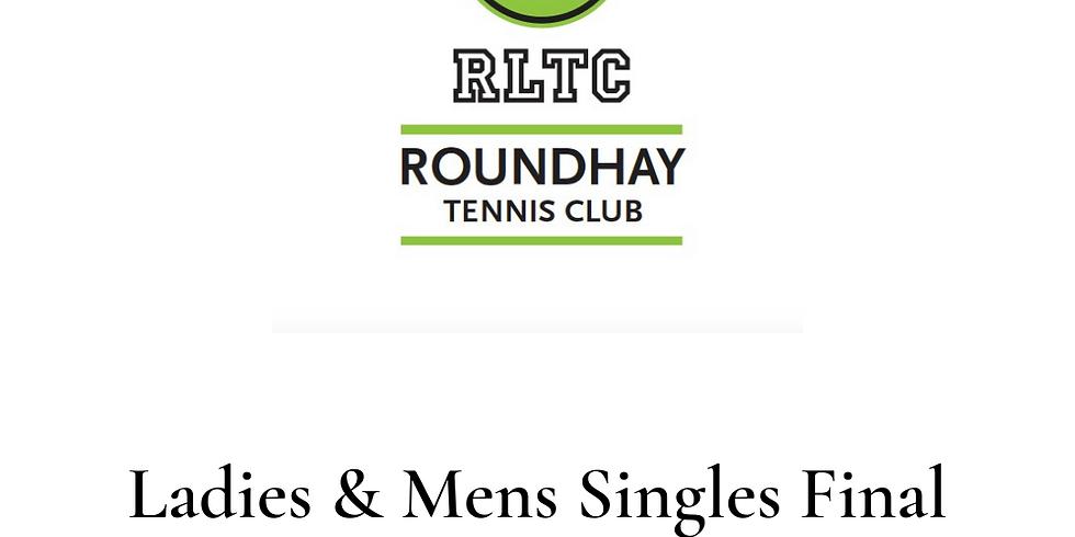 RLTC Open Finals Day - Singles!