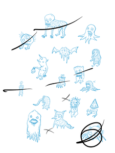 Early enemy designs by Dylan Z.