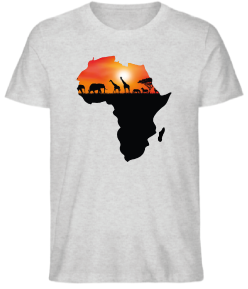 T-SHIRT MAPA ÁFRICA SUNSET