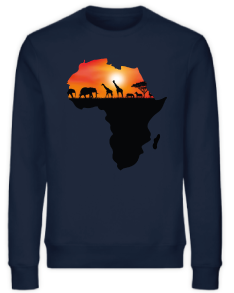 SWEATSHIRT AFRICA MAP SUNSET