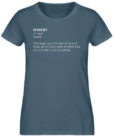 T-SHIRT HANGRY DEFINITION